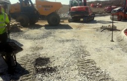 Working progress on site work