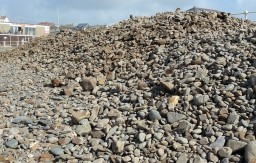 Hundreds of tonnes of pebbles pushed up by the storms