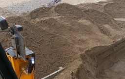 Heavy storms caused excessive sand